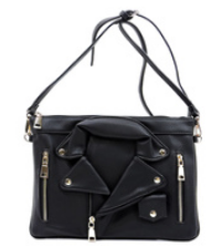 Biker Jacket Clutch (Black)