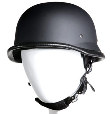 MATTE BLACK GERMAN HELMET (NON-DOT)
